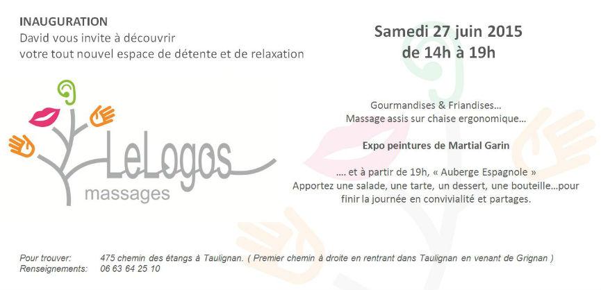 massage inauguration Taulignan Drôme Provençale juin 2015
